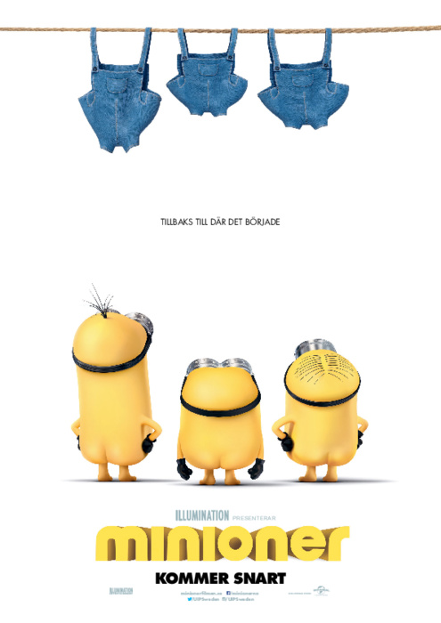 Filmen Minioner som har premiär 1 juli