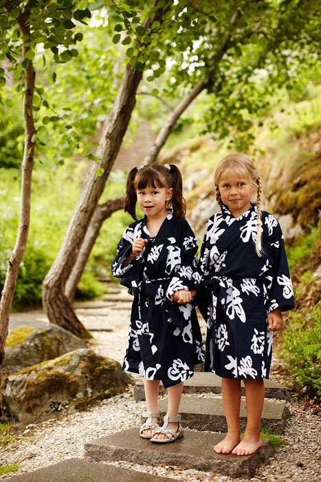 Barn på stigen