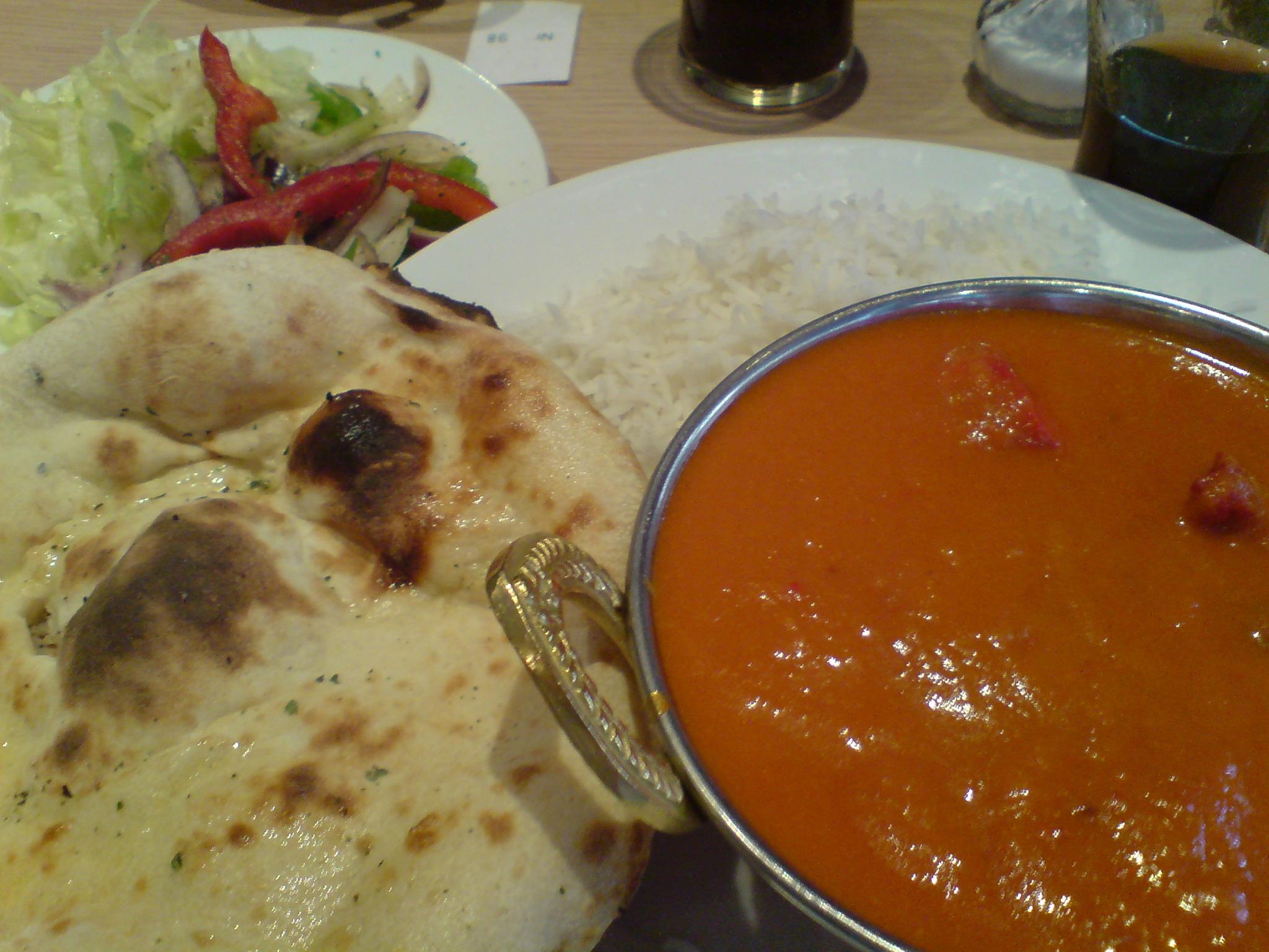Tikka Masala på indisk restaurang i Sverige