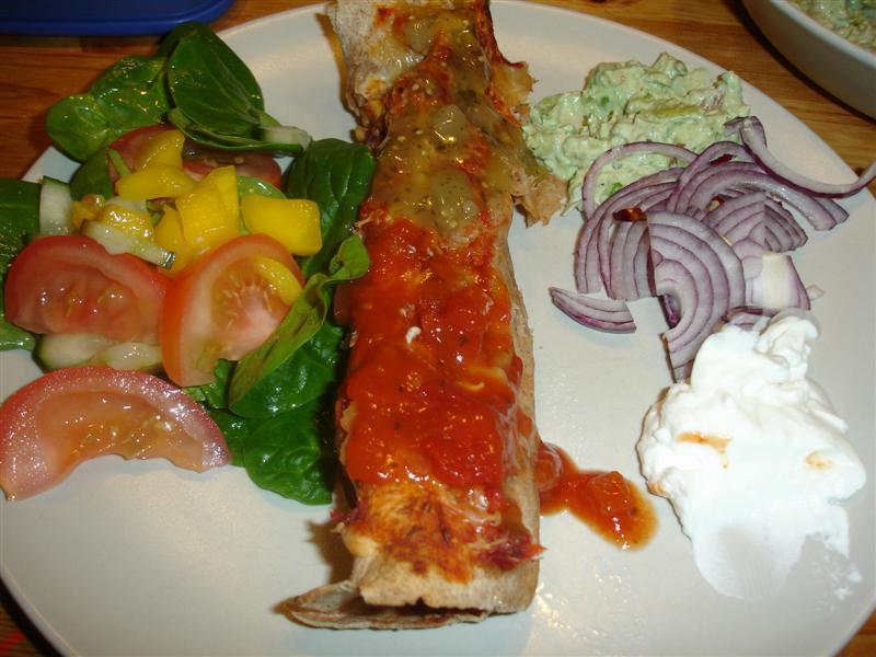 Enchiladas med tillbehör