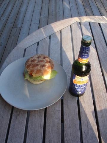 Hamburgare och öl