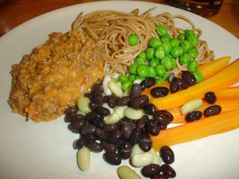 Köttfärssås och pasta