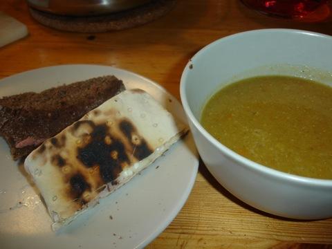 Soppa och smörgåsar