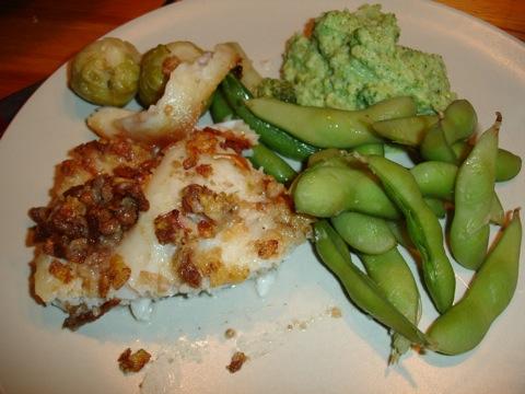Cornflakesöverbakad fisk och broccolimos