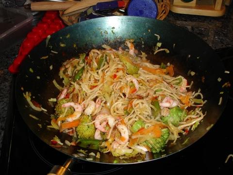 Färdig wok