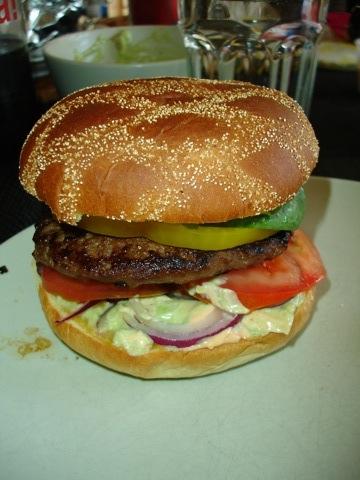 Urgott med hamburgare