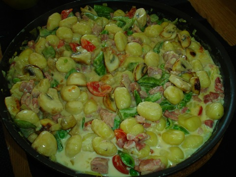 Gnocchi med skinksås