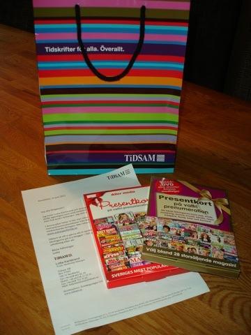 Goodiebag från TiDSAM