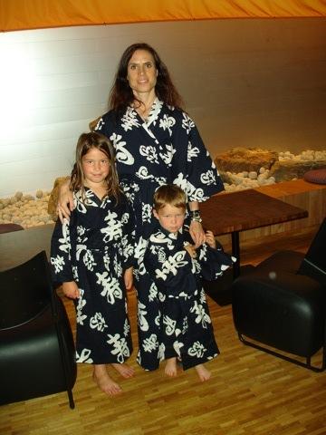 Jag och barnen i våra Yukata