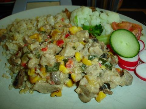 Fläskfilégryta med quinoa