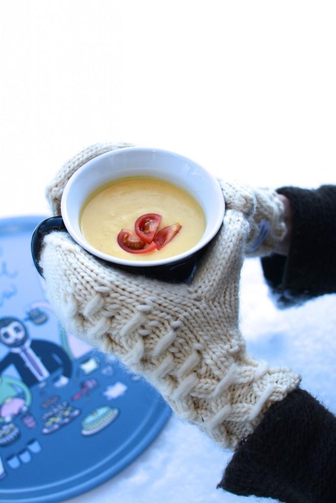 Man blir varm i hela kroppen av både utflykt och soppa.