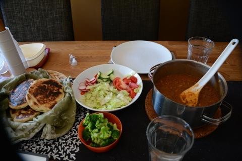 Chili con carne med det gudomliga brödet