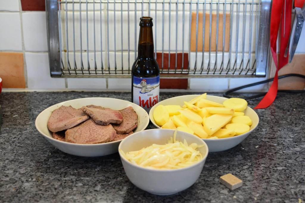 Ingredienser till Per Morbergs sjömansbiff i Crock Pot