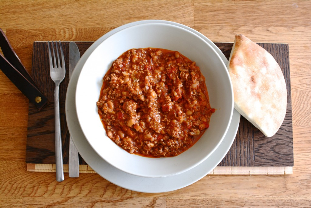 Smakrik chili con carne i Crock Pot