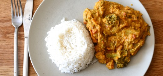Vegansk Massaman Curry i Crock Pot