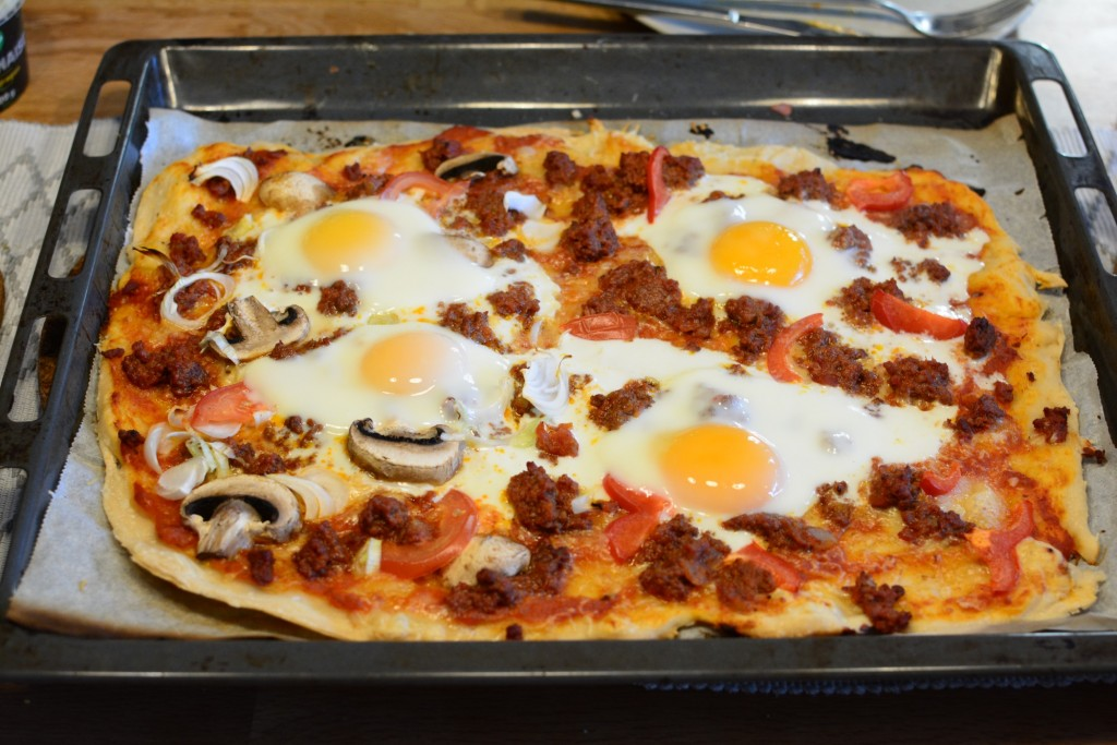 En av alla goda pizzor som serverades.