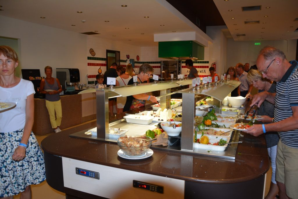 Buffet-restaurangen.