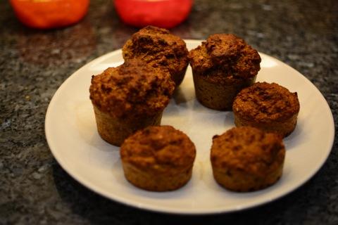 Sockerfria morots- och bananmuffins