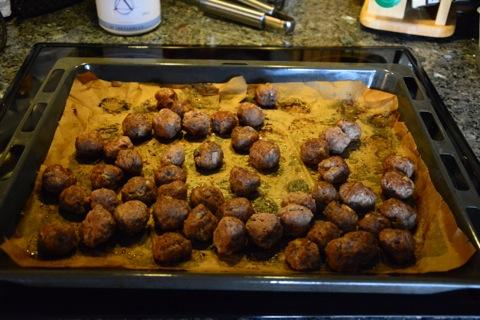 Köttbullarna är klara att ätas!