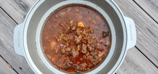 Höstgryta på högrev i Crock Pot