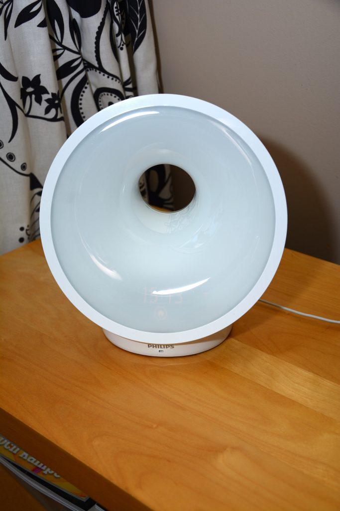 Här är lampan släckt.