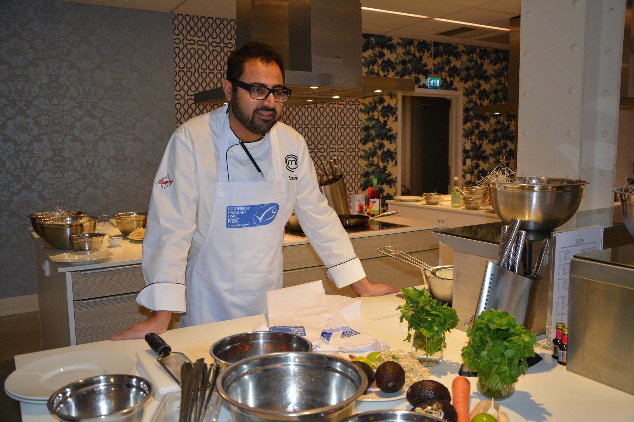 Amir vet hur man lagar mat med MSC-märkt fisk och skaldjur