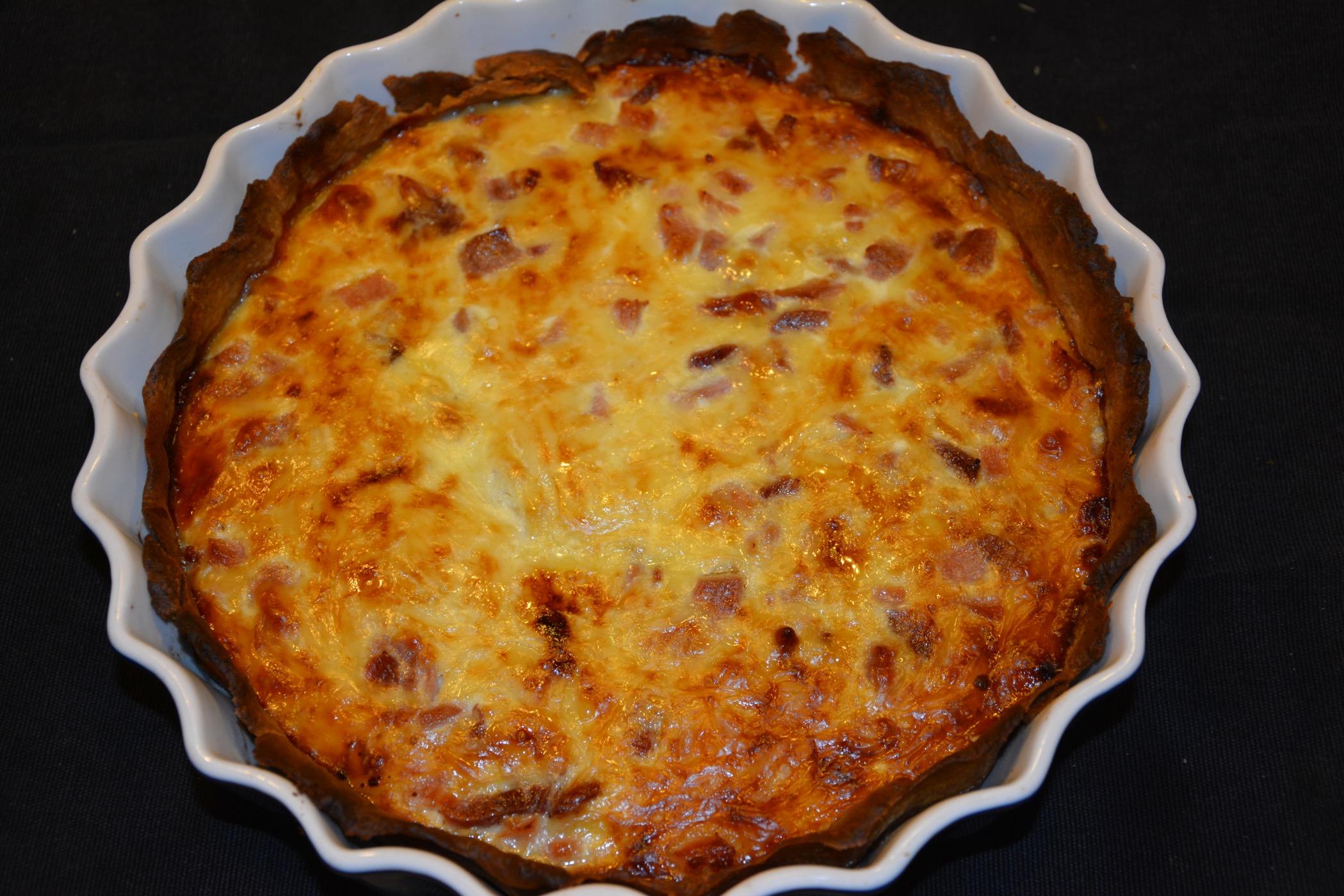 nyttig ost och skinkpaj