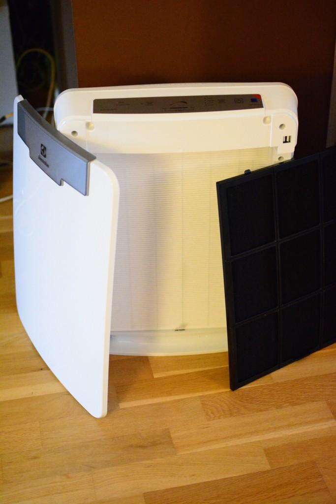 HEPA-filter samt kolfilter för att filtrera bort partiklar