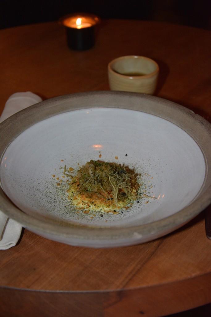 Potatisbakelse och dricka till detta sherry i en liten gullig skål.