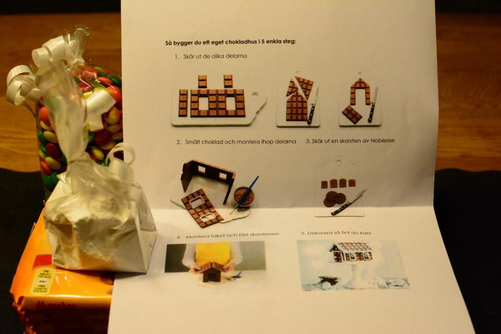 Enkla instruktioner för att göra ett chokladhus