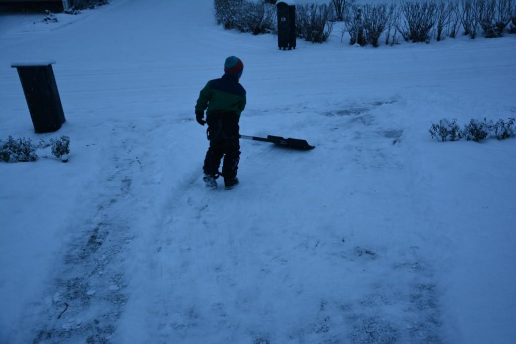 Gustaf skottade både uppfart och parkering