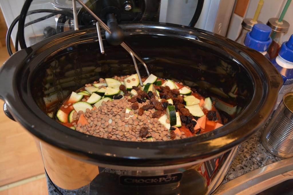 Mustig vegetarisk linsgryta i Crock-Pot