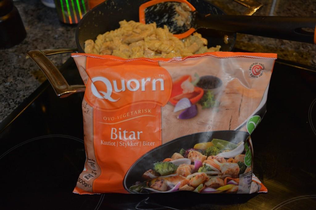 Krämig allt-i-ett pasta med Quorn Bitar