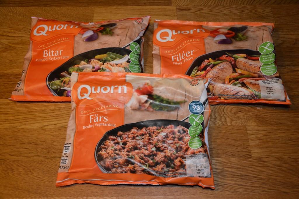 Vegetariska basråvaror i Quorn-sortimentet