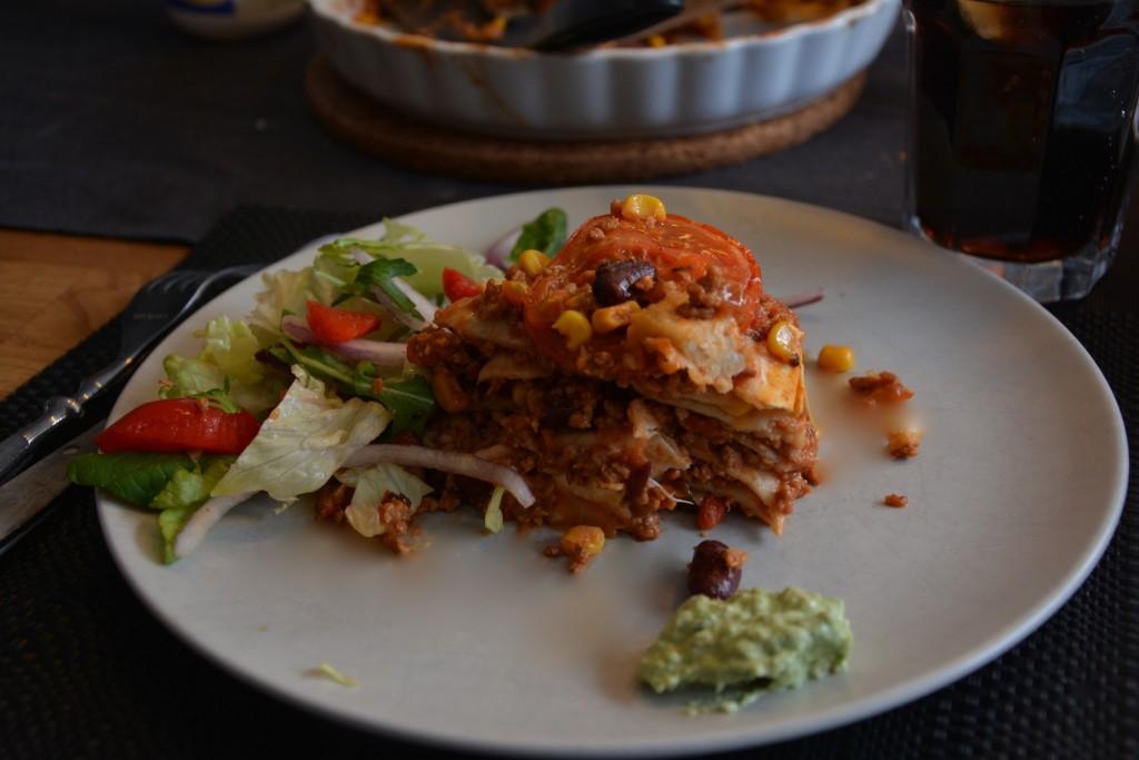 Tacotårtan är perfekt till helgens taco-middag!