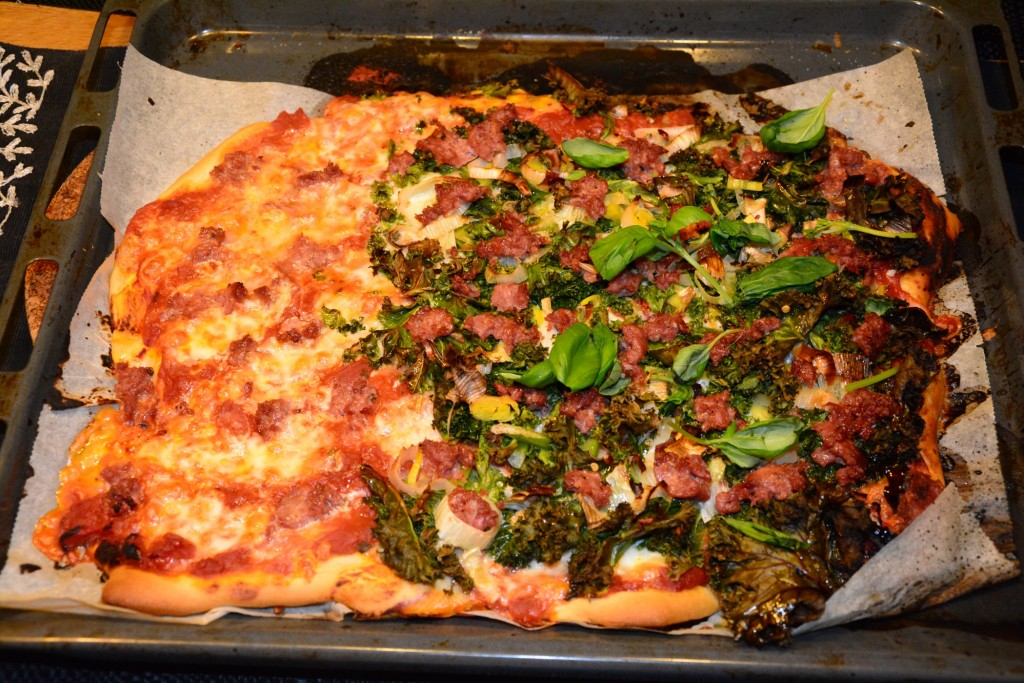 Premiumpizza Salsiccia & Grönkål