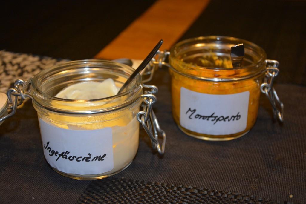 Gudagod ingefärscrème och morotspesto