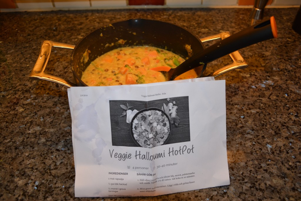 Riktigt god och krämig vegetarisk Halloumi Hotpot