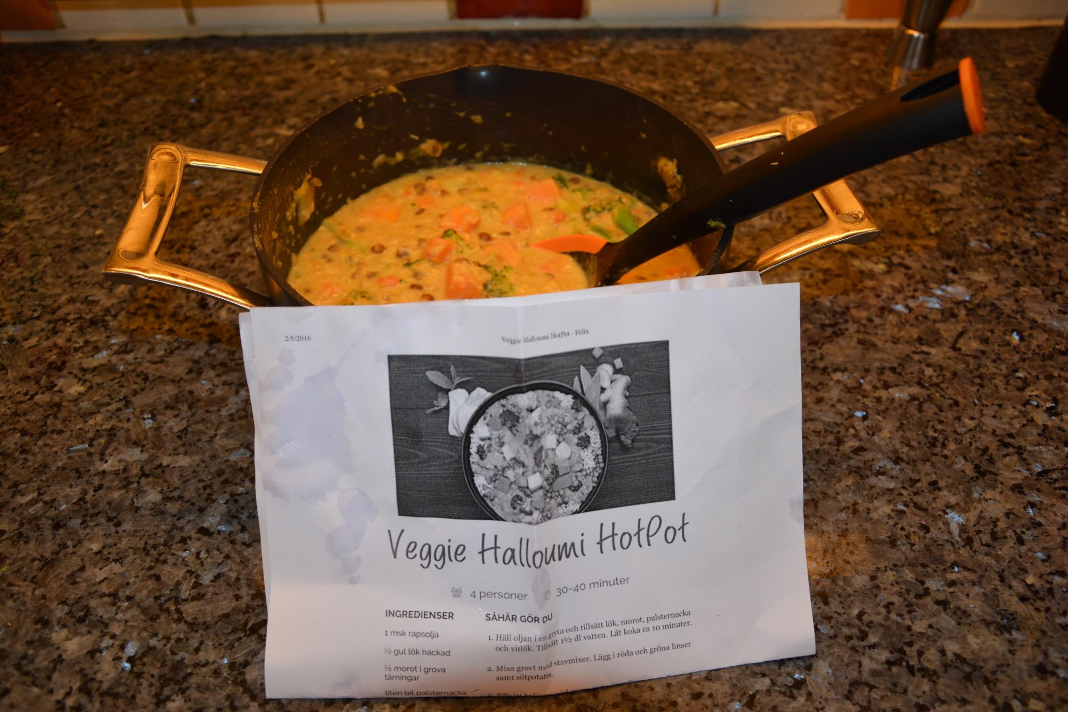 halloumi hot pot recept