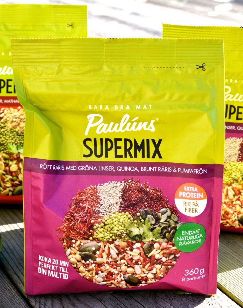 Rött råris med gröna linser, quinoa, brunt råris & pumpafrön