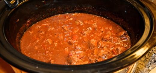Crock-Pot gjorde jobbet igen! Mustig chili färdig att servera!