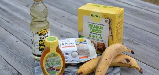 Allt som behövs för att baka ett bananbröd