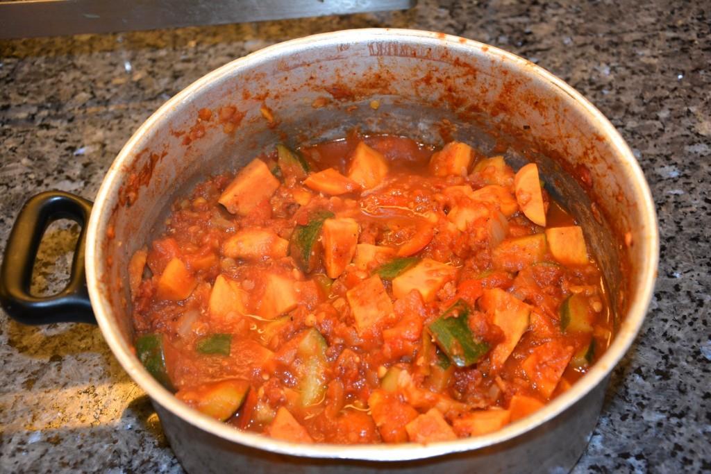 Kryddig vegansk etiopisk gryta