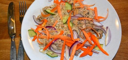Pulled chicken thaistyle i Crock-Pot