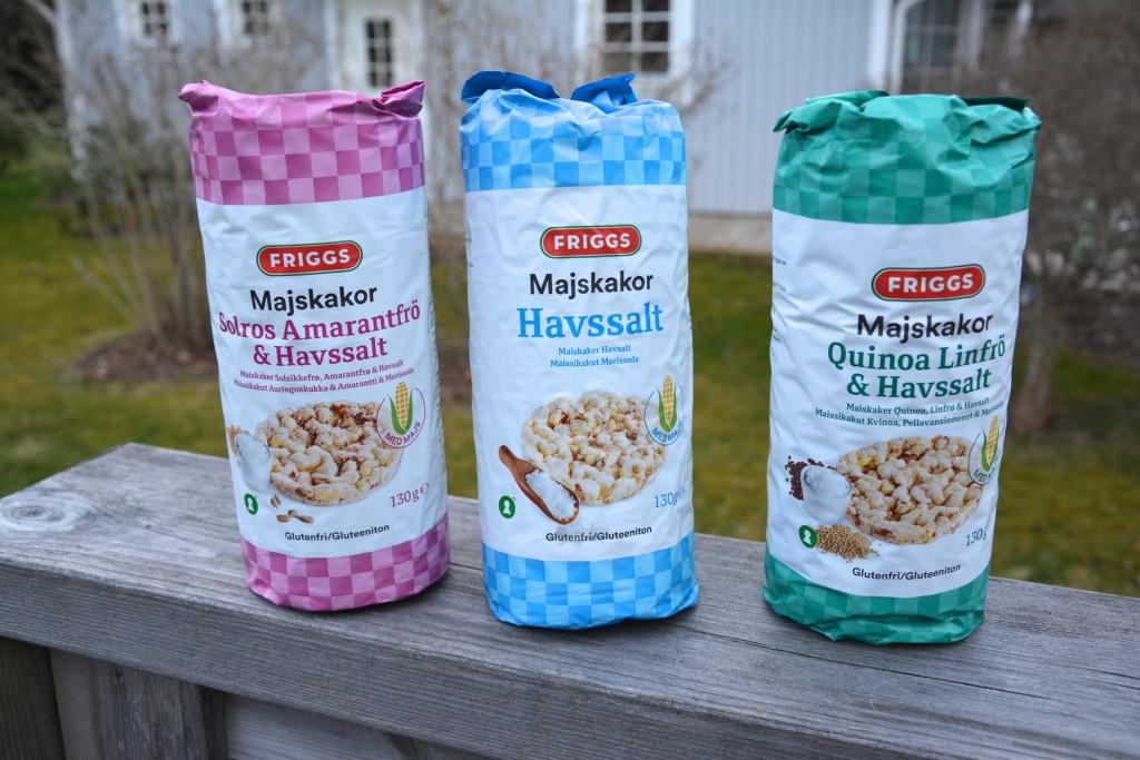 Nya smaker på majskakor från Friggs
