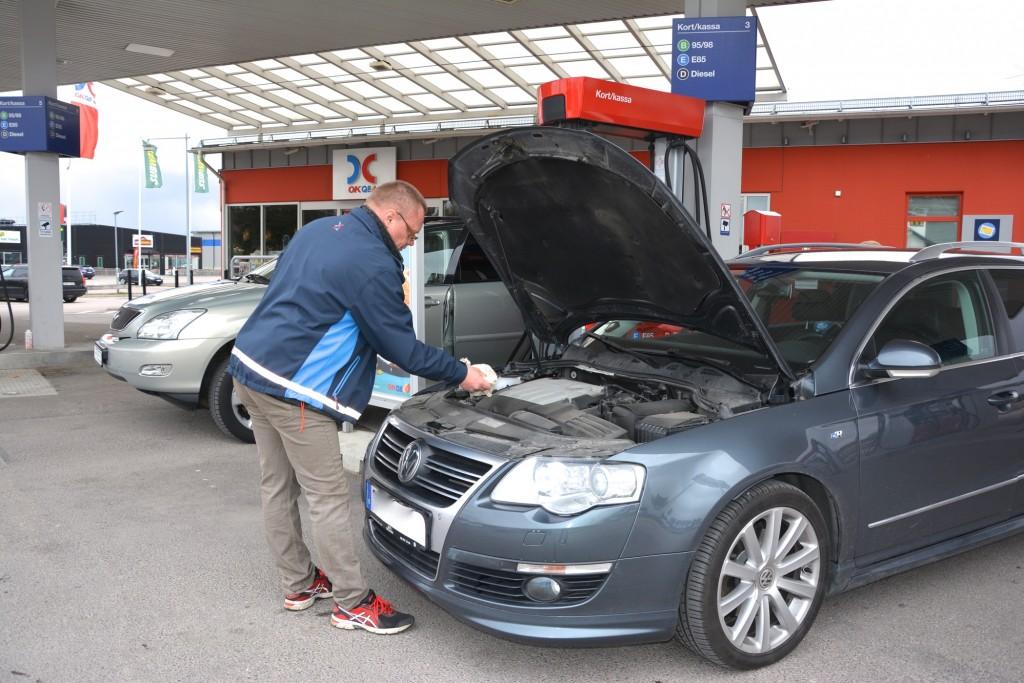Även bilen togs kärleksfullt om hand av OKQ8s kompetenta personal.