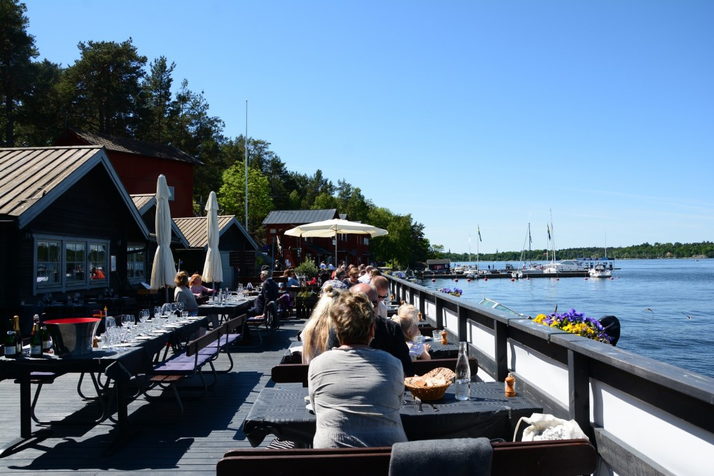 Utsikt från bästa bordet på restaurang Rökeriet