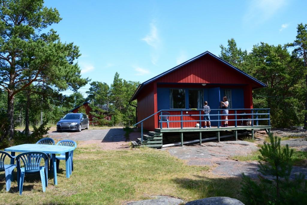 Bo i stuga på Åland