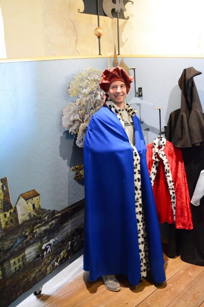 Det fanns även möjlighet för besökarna att klä ut sig. Här ser vi kungen!!!