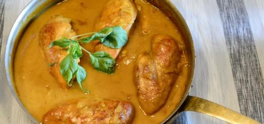 Kyckling äpple-curry i Crock-Pot